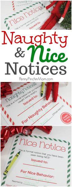 Elf on the Shelf Idea | Nice and Naughty Notice Printable Free Elf on the Shelf printable | Christmas printables | Free holiday #Elfontheshelf #Christmas #Christmasprintables #KidsChristmas