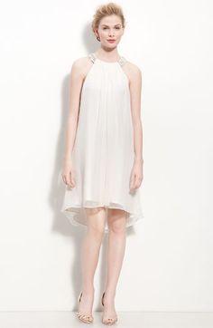 Calvin Klein Beaded Halter Chiffon Dress | Nordstrom - StyleSays