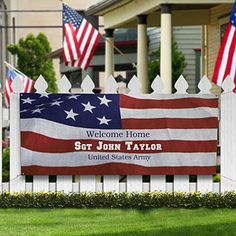 1000 ideas about welcome home banners on pinterest lds for Patriotic welcome home decorations