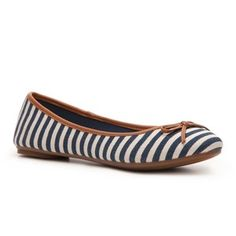 Kelly and Katie striped flat from DSW.