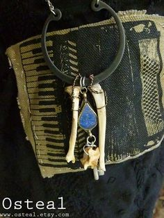 Adventure  featuring squirrel bones and vintage kuchi by Osteal, $30.00