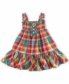 Ralph Lauren Baby Girls' Plaid Dress
