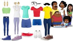 """The Cleveland Show"" by mindlesstoety16 ❤ liked on Polyvore"