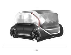 Zoox - City pod on Behance Car Design Sketch, Car Sketch, Custom Big Rigs, Smart Car, City Car, Futuristic Cars, Pedal Cars, Car Wrap, Transportation Design