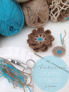 Autumn crochet projects  in process