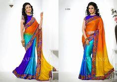 FashionBazaar99: Georgeous Designer Multi Color Sarees now availabl...