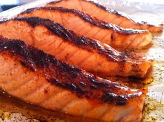 Chili-Maple Glazed Salmon--bursting with flavor and easy to make
