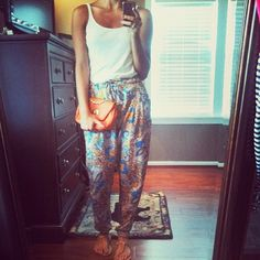 these pants look so comfy but I don't think I could pull them off