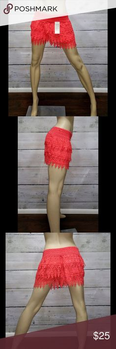Discounted Shipping ! Must have Shorts!! The trend in Florida. Are shorts but looks like a skirt. Fits sizes small, medium and large. Color is peach. Boutique Shorts
