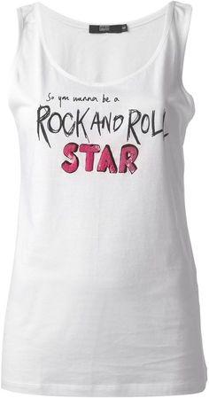 Markus Lupfer 'Rock Star' tank top on shopstyle.co.uk Markus Lupfer, Pant Shirt, Jean Shirts, Knitwear, Rock, Hoodies, Stars, Tank Tops, Cotton