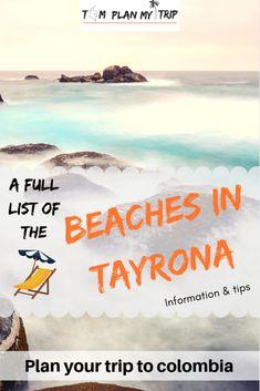 Beach in Tayrona: The Ultimate Guide & Sexy Pictures Tayrona National Natural Park, Tayrona National Park, Trip To Colombia, Colombia Travel, Colombia Destinations, Travel Destinations, Plan My Trip, San Bernardo, Under The Shadow