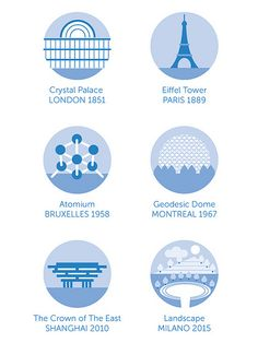 Major iconic landmarks created by previous world expositions. Let's see what's in store for Milan in 2015! #expomilan2015