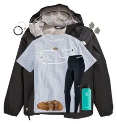 good friday came in clutch ✌ by preppy-renee on Polyvore featuring The North Face, NIKE, Birkenstock, Lokai, Kendra Scott, Hydro Flask and Vineyard Vines