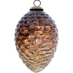 Small Pinecone Ornament in Bronze