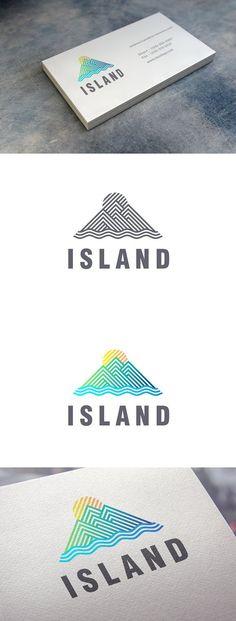 Island Logo. Summer