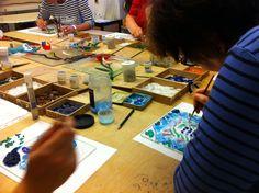 Kreativer workshop zum Entspannen und Wohlfühlen bei Durchblick-Glasgestaltung