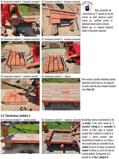 Cum se construieste un gratar din caramida? Bbq Grill Diy, Outdoor Barbeque, Brick Bbq, Brick Construction, Firewood, Crafts, House, Photos, Brick Built Bbq