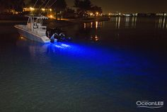 Blue OceanLED's on center console boats