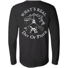 Men's Day Of Peace Rock Shirt - Long Sleeve Jersey Tee Bella Canvas
