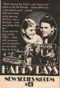 1974 ad for the series debut of Happy Days.