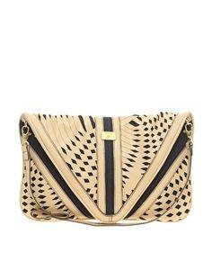 Fiorelli   Fiorelli Black Bermondsey Medium Envelope Clutch Shoulder Bag at ASOS - StyleSays