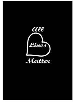 All Lives Matter Peace Vinyl Vehicle Decal Window Graphics Equal Lives