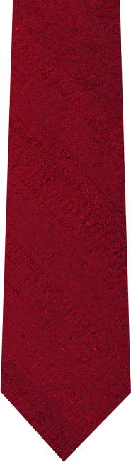 Sam Hober Red Thai Rough Silt Tie #8