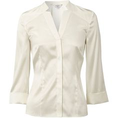 Hobbs Tennant blouse ($120) ❤ liked on Polyvore featuring tops, blouses, shirts, camisas, blusas, women, silk v neck top, silk shirt, v neck blouse and shirt blouse