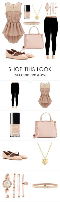 """""""Soft pink casual"""" by laurav-mendoza ❤ liked on Polyvore featuring Chanel, Valextra, Tabitha Simmons, Finn, Anne Klein and Dsquared2"""