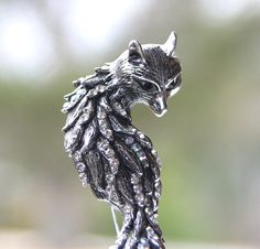 Fox Brooch Pin. Fox Jewelry
