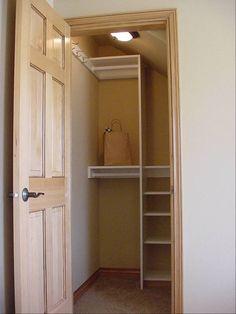closet in attic | attic-closet