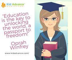 """Education is the key to unlocking the world, a passport to freedom!"" Oprah Winfrey #educationaltoys #childrentoys #kidsplay #kidtoys #books #Kideducation"