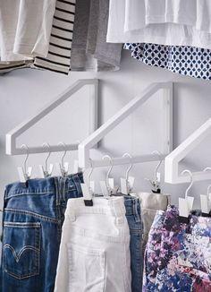 Keep your closet organized with a set of DIY shelf brackets.