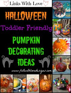 Links With Love: Toddler-Friendly (No Carve Alternatives) Pumpkin Decorating Ideas {Felt With Love Designs}