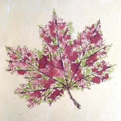 Experimenting with dry leaves and watercolors