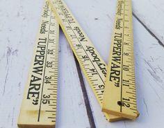 Vintage folding ruler yardstick retro yard by ViniqueCollectibles $14.00