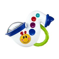 Baby Einstein Music and Rattle Saxophone: http://www.amazon.com/Baby-Einstein-Music-Rattle-Saxophone/dp/B004X0WCEK/?tag=headisstrandh-20
