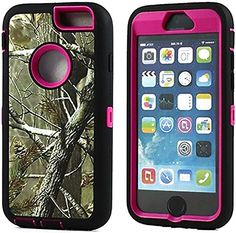 """myLife Rugged Shock Absorbing {Built In Screen Protector} Case for iPhone 6 (6G) 6th Generation Phone by Apple, 4.7"""" Screen Version {Black, Pink and Brown """"Real Tree Camo"""" Neo Hybrid Three Piece with Layered Flex Gel SECURE-Fit Armor} myLife Brand Products http://www.amazon.com/dp/B00QJ9RP4K/ref=cm_sw_r_pi_dp_leIHub1N7MH05"""