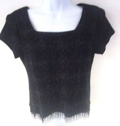 Starburst Design In Black with Back and Clear Beads at the Bottom Has Shoulder Pads. In Excellent Used Condition Dry Clean Only. | eBay!