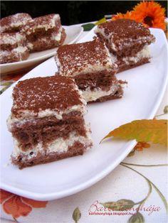 Barbi konyhája: Grízkrémes piskóta - tejbepapi rajongóknak Sweet Desserts, Dessert Recipes, Sweet And Salty, Cake Cookies, Tiramisu, Muffin, Food And Drink, Cooking Recipes, Sweets