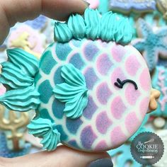 """71 Likes, 7 Comments - The Cookie Confectionery (@the_cookie_confectionery) on Instagram: """"#thecookieconfectionery #sugarcookies #cookieart #underthesea #thelittlemermaid…"""""""