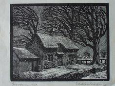 Eileen Balfour Browne. Snowstorm. 1930s? (wood engraving)