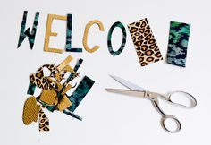 Create a welcome sign for your baby shower using fabric letters. This simple DIY is a great way to decorate for your party.