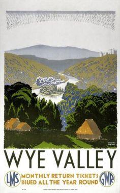 Vintage GWR Devon Coast Mosaic Railway Poster A4//A3//A2//A1 Print