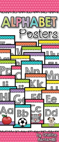 Freebie alphabet posters includes 33 alphabet posters to display in your classroom