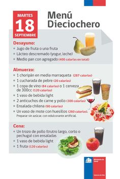 fiestas patrias alimentación saludables - Buscar con Google Decorating On A Budget, Menu, Teaching, Chile, Bb, Google, Yogurt, Juices, Fruit