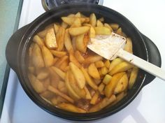 Cinnamon Apples in the Pampered Chef Rockcrok Everyday Pan   1 bag Granny Smith apples( peeled, cored, and thickly sliced)  1 stick butter  1- 1 1/2 Tbsp cinnamon  1 cup brown sugar   Melt butter in RC on medium heat.. Add apples, brown sugar, and cinnamon. Cook until apples are tender but not mushy( about 10-12 minutes).  Shop online at: www.pamperedchef.biz/shawnwier
