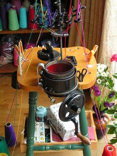 Legare No 47 CSM antique ciruclar sock knitting machine.                                                                                                                                                                                 More