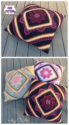 Wonderful Cost-Free Crochet pillow flower Thoughts CAL häkeln in Boom Flower Square kostenlos häkeln , Crochet Square Pattern, Crochet Flower Squares, Crochet Pillow Pattern, Bag Crochet, Crochet Mandala Pattern, Crochet Cushions, Crochet Flower Patterns, Square Patterns, Crochet Patterns For Beginners