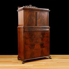 Antique Silver Cabinet in Mahogany